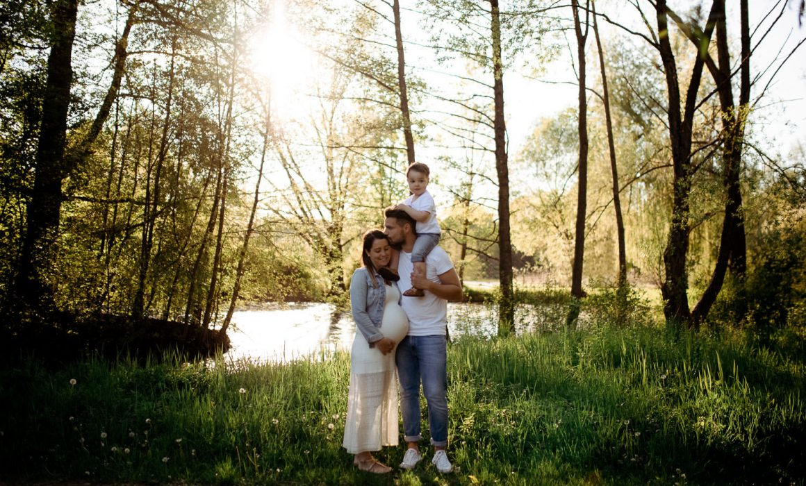 Familien Fotoshooting im Wald